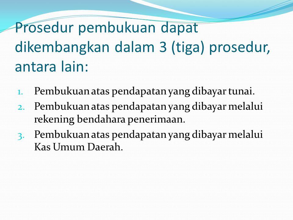 Prosedur pembukuan dapat dikembangkan dalam 3 (tiga) prosedur, antara lain: