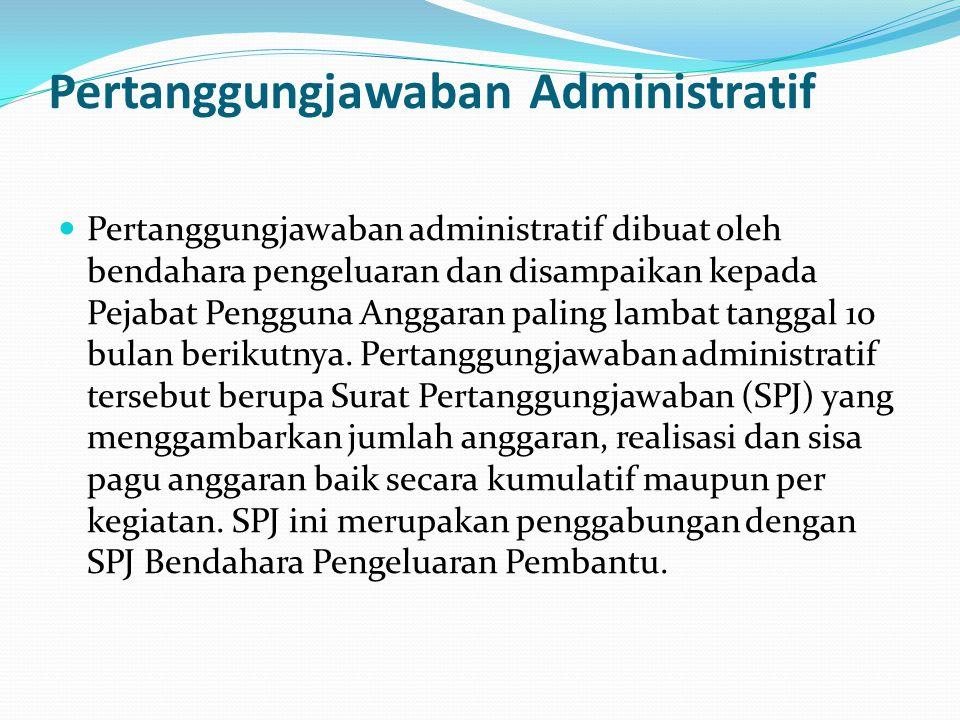 Pertanggungjawaban Administratif