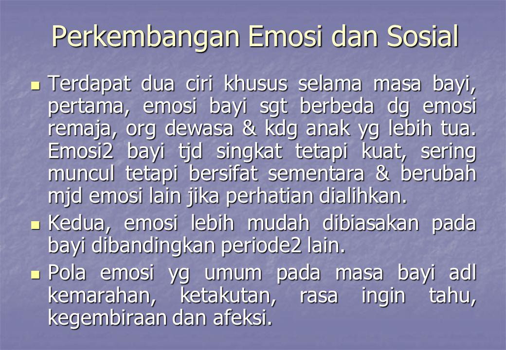 Perkembangan Emosi dan Sosial