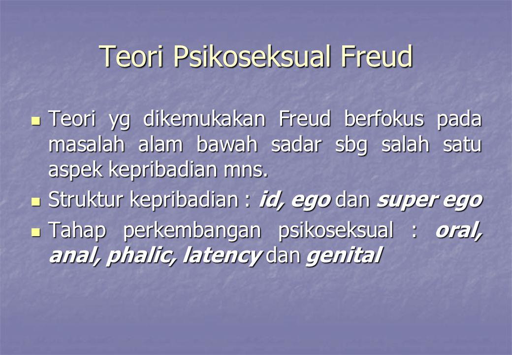 Teori Psikoseksual Freud