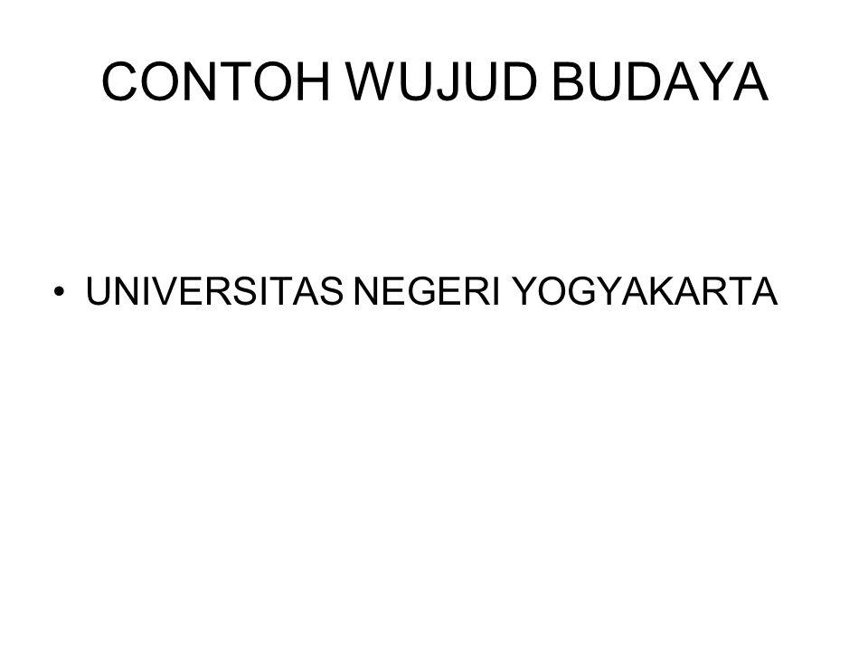 CONTOH WUJUD BUDAYA UNIVERSITAS NEGERI YOGYAKARTA