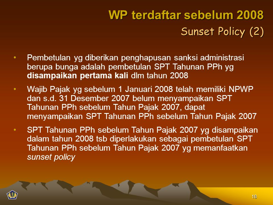 WP terdaftar sebelum 2008 Sunset Policy (2)