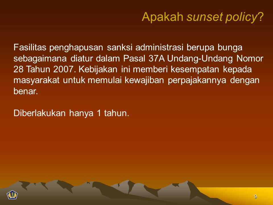 Apakah sunset policy