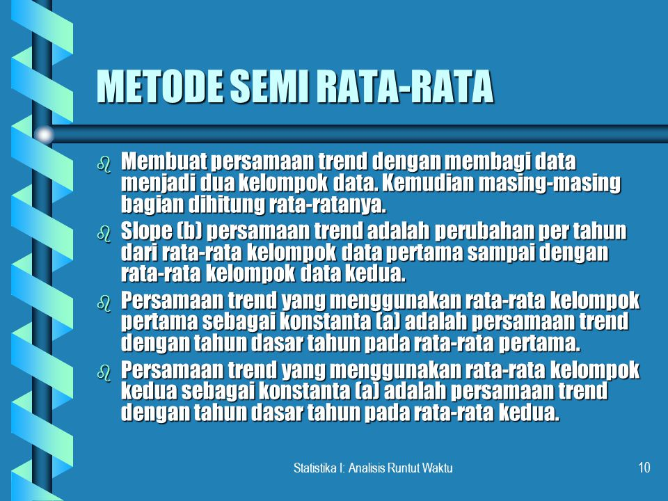 Statistika I: Analisis Runtut Waktu