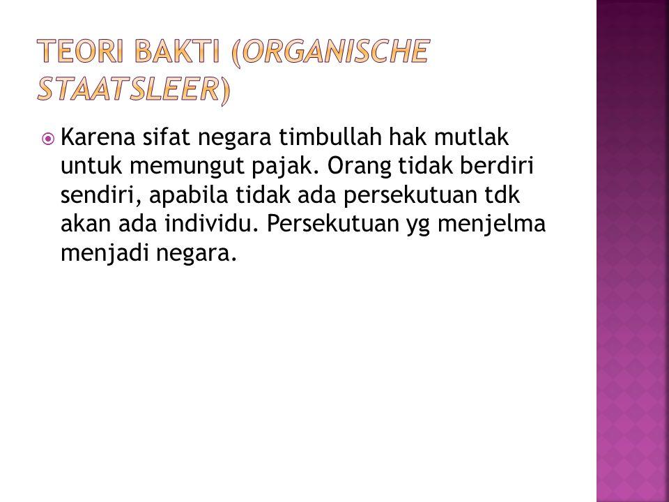 Teori bakti (Organische staatsleer)