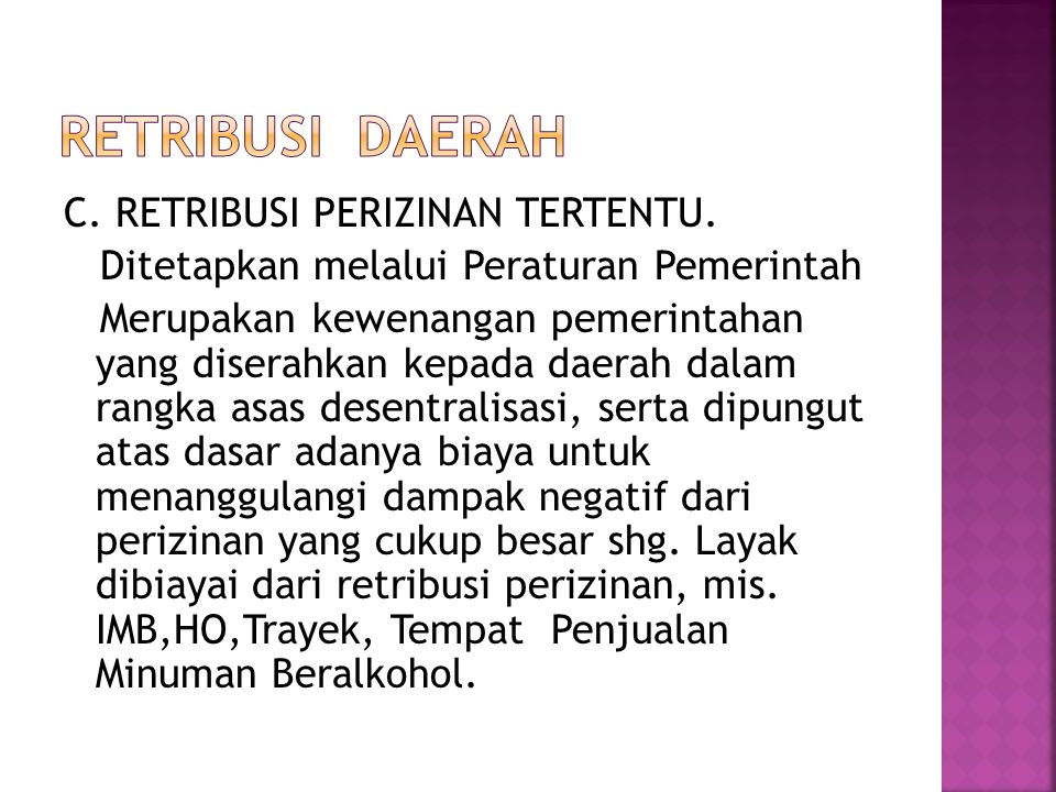 RETRIBUSI DAERAH