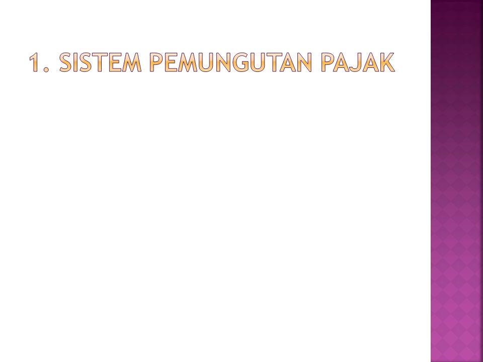 1. Sistem pemungutan pajak