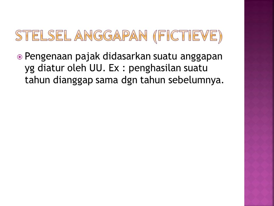 Stelsel anggapan (fictieve)