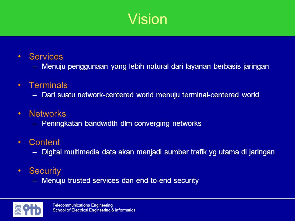 Vision Services Terminals Networks Content Security