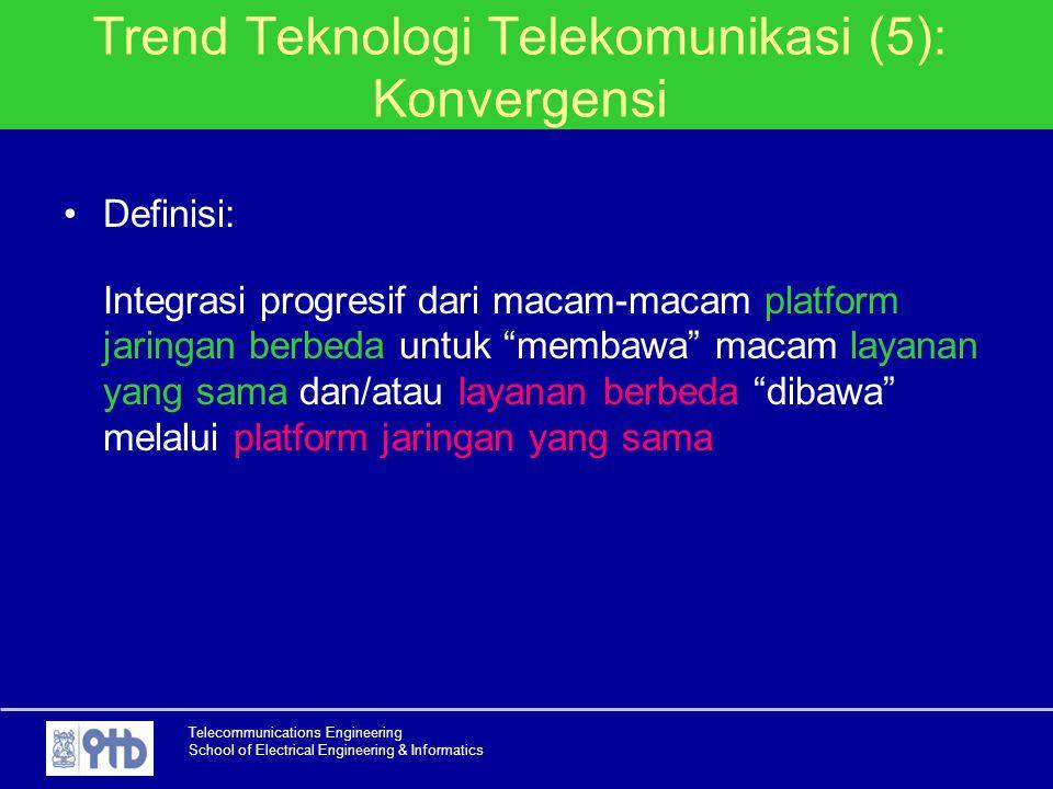 Trend Teknologi Telekomunikasi (5): Konvergensi