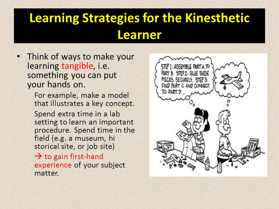 Learning Strategies for the Kinesthetic Learner