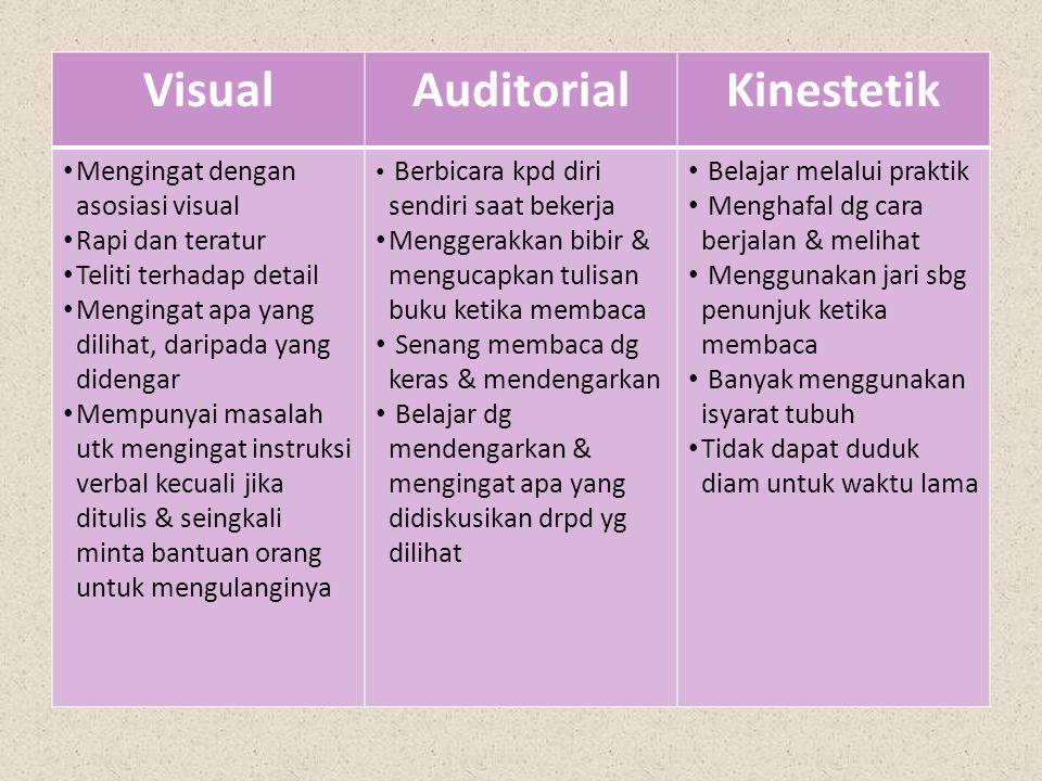 Visual Auditorial Kinestetik