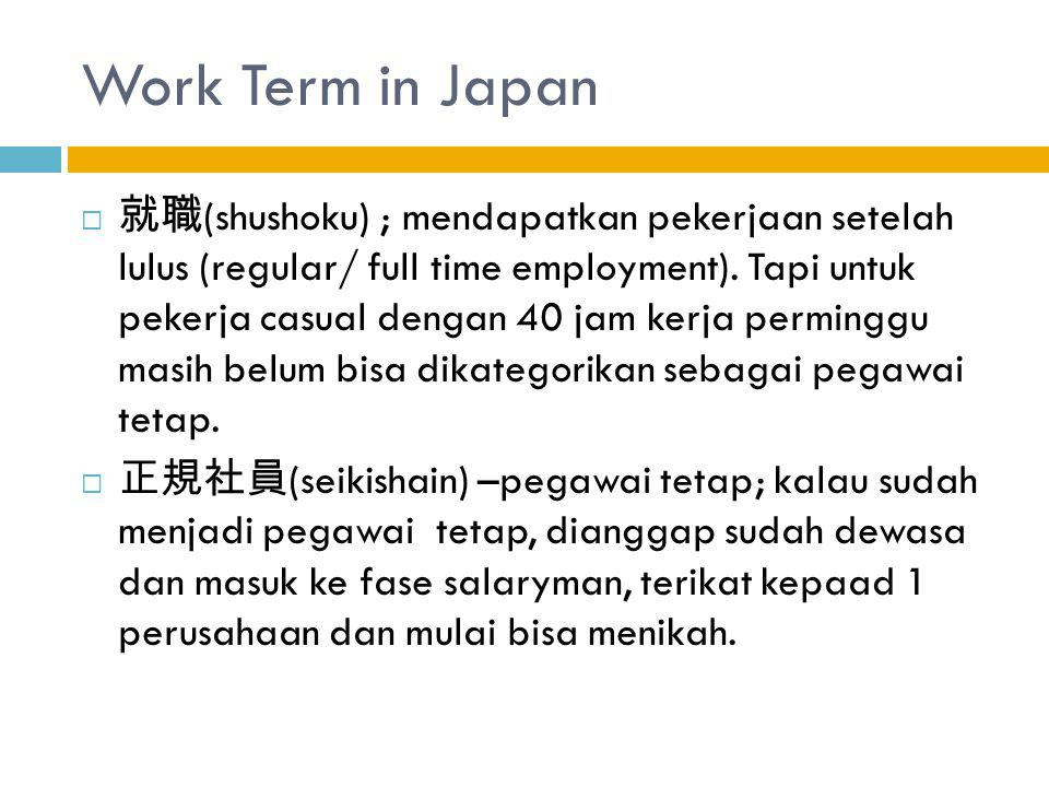 Work Term in Japan