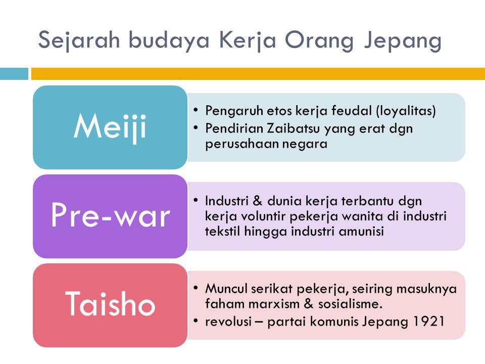 Sejarah budaya Kerja Orang Jepang