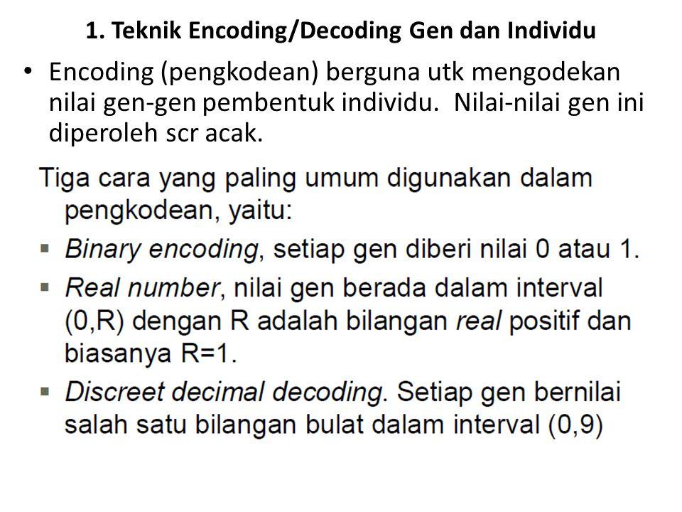 1. Teknik Encoding/Decoding Gen dan Individu