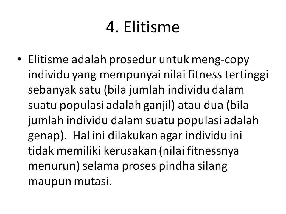 4. Elitisme