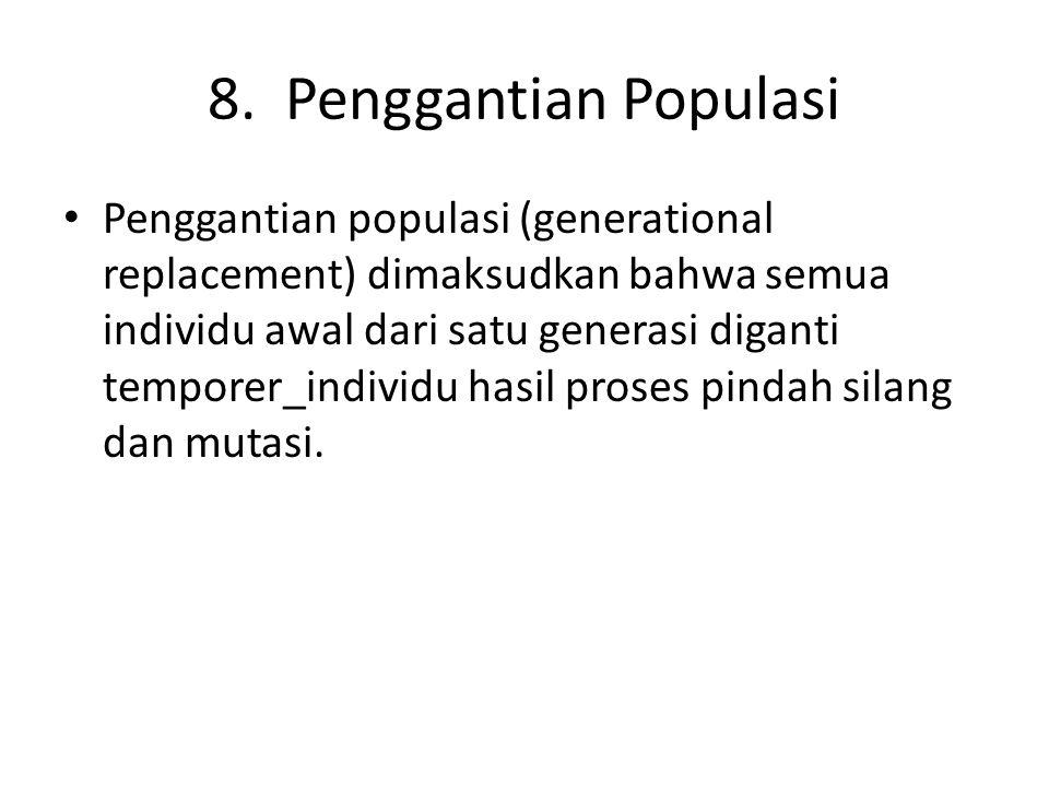 8. Penggantian Populasi