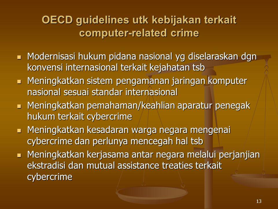 OECD guidelines utk kebijakan terkait computer-related crime