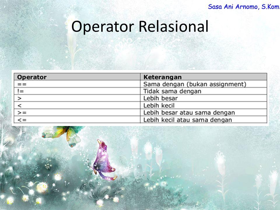 Operator Relasional