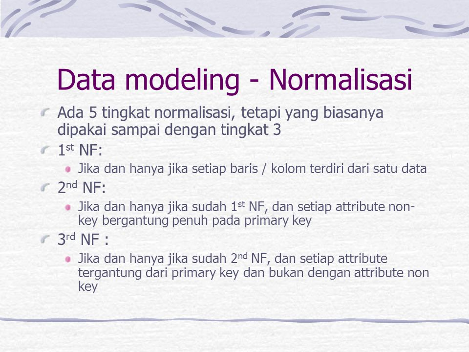 Data modeling - Normalisasi