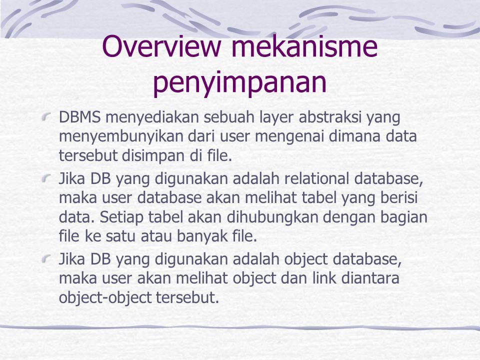 Overview mekanisme penyimpanan