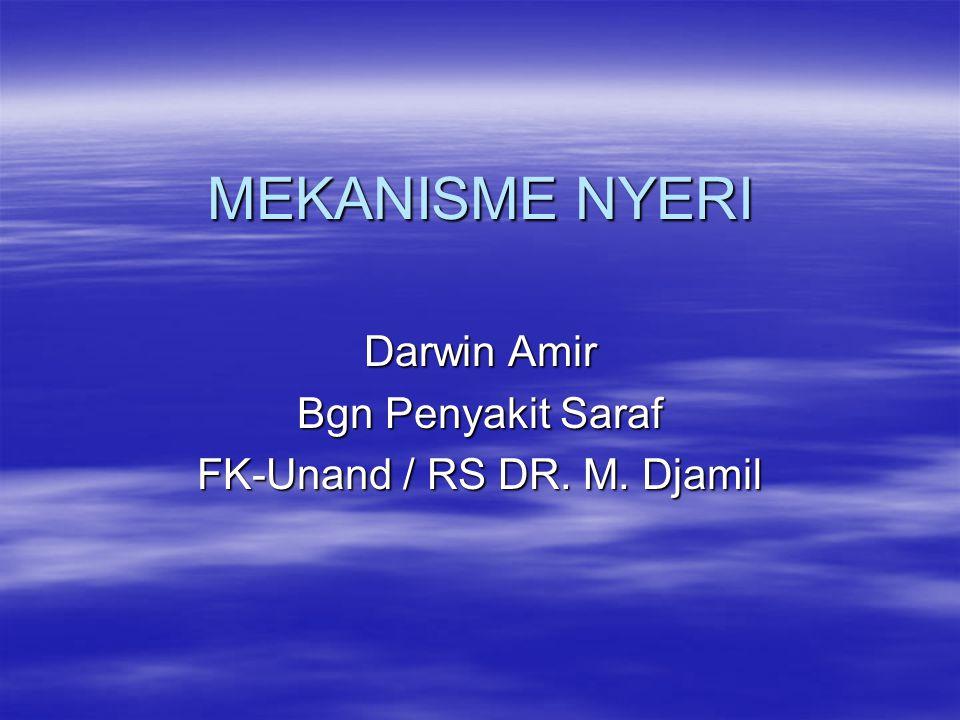 Darwin Amir Bgn Penyakit Saraf FK-Unand / RS DR. M. Djamil
