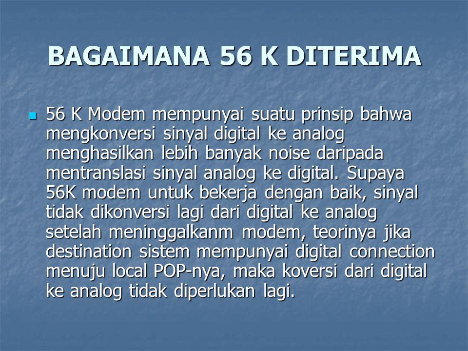 BAGAIMANA 56 K DITERIMA