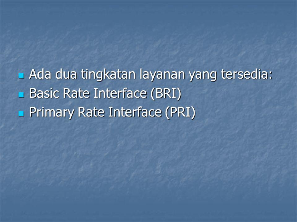 Ada dua tingkatan layanan yang tersedia: