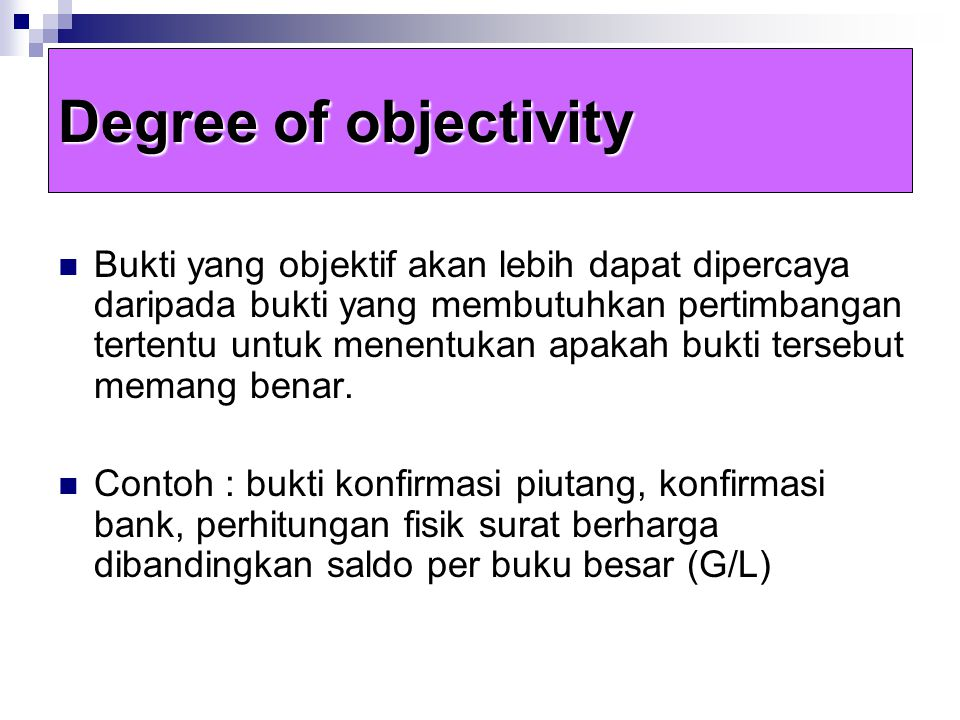 Degree of objectivity