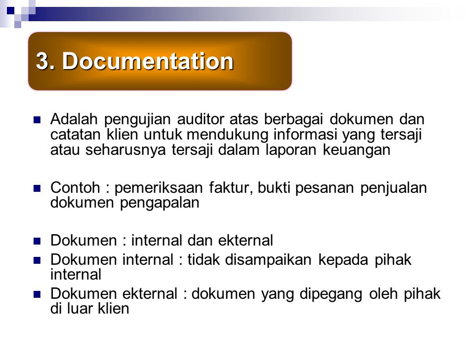 3. Documentation