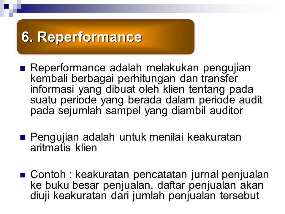 6. Reperformance
