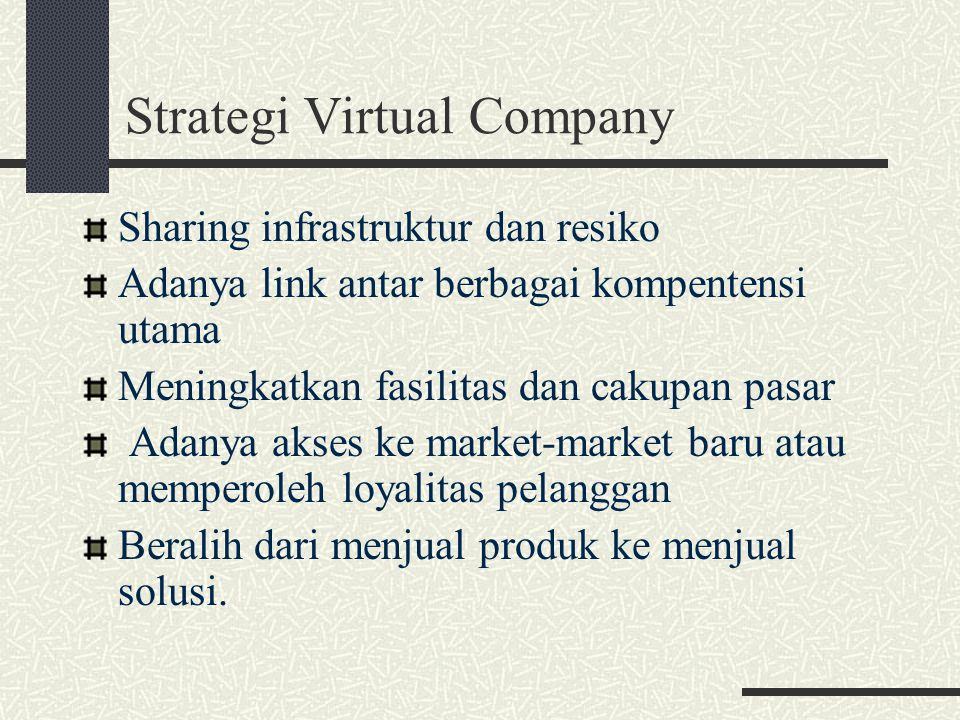 Strategi Virtual Company