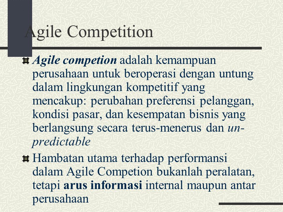 Agile Competition