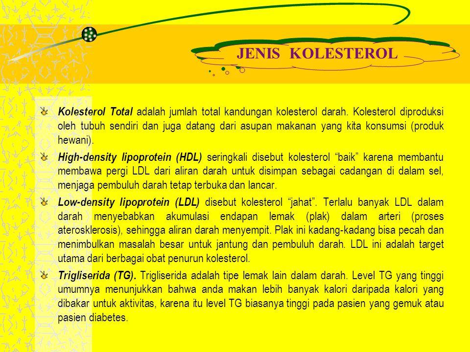 JENIS KOLESTEROL