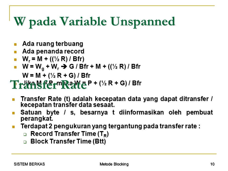 W pada Variable Unspanned