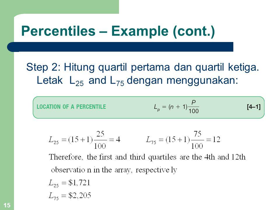 Percentiles – Example (cont.)