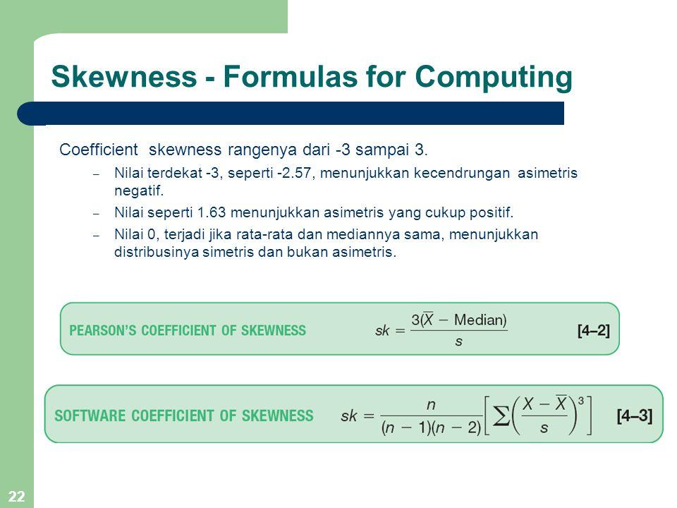 Skewness - Formulas for Computing