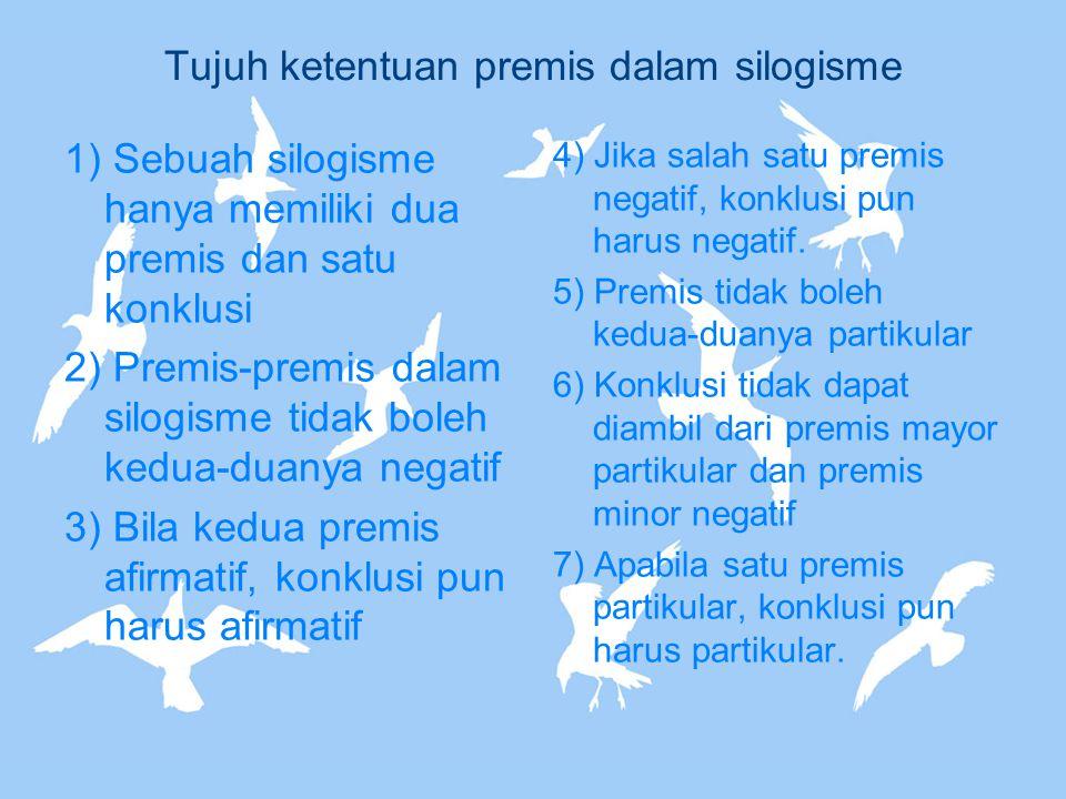 Tujuh ketentuan premis dalam silogisme
