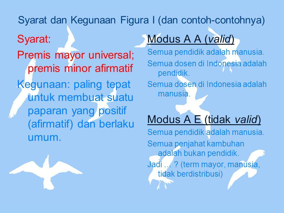 Syarat dan Kegunaan Figura I (dan contoh-contohnya)