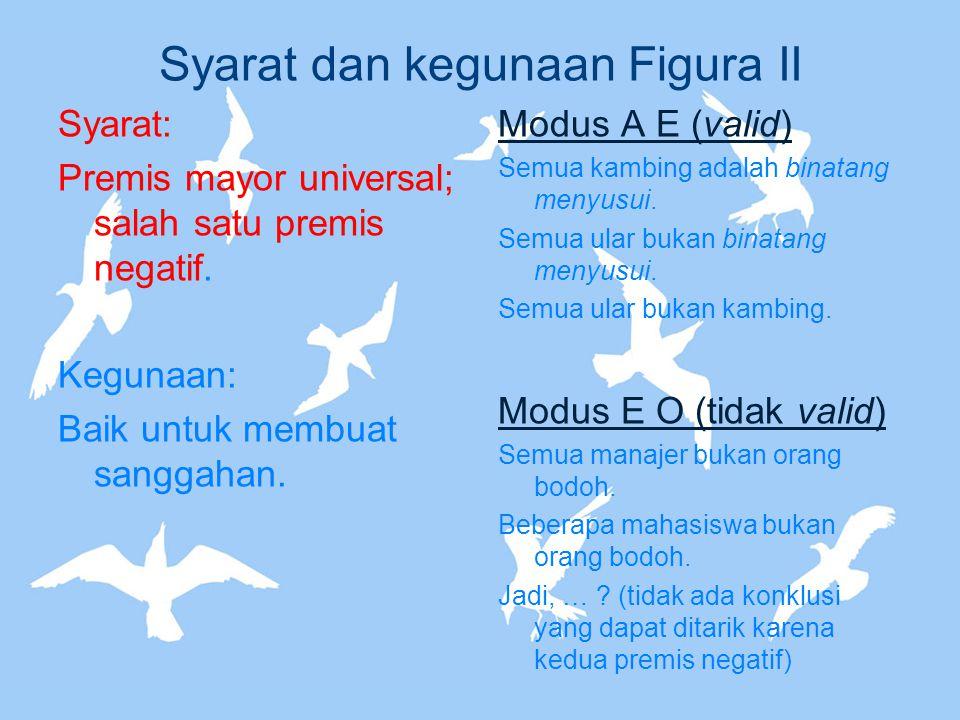 Syarat dan kegunaan Figura II