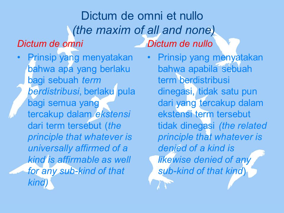 Dictum de omni et nullo (the maxim of all and none)