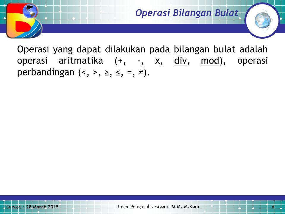 Operasi Bilangan Bulat
