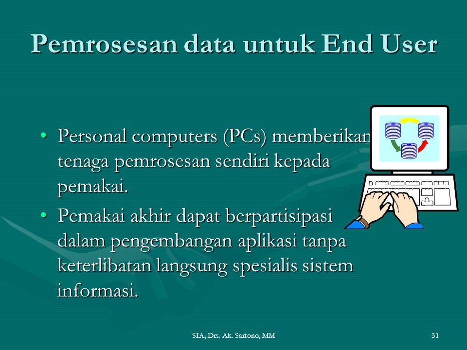 Pemrosesan data untuk End User