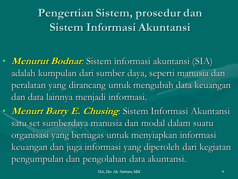 Pengertian Sistem, prosedur dan Sistem Informasi Akuntansi
