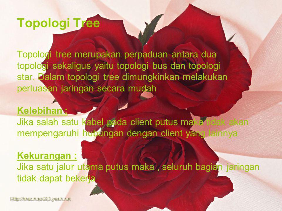 Topologi Tree Topologi tree merupakan perpaduan antara dua