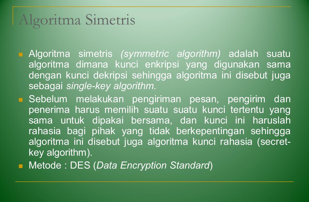 Algoritma Simetris