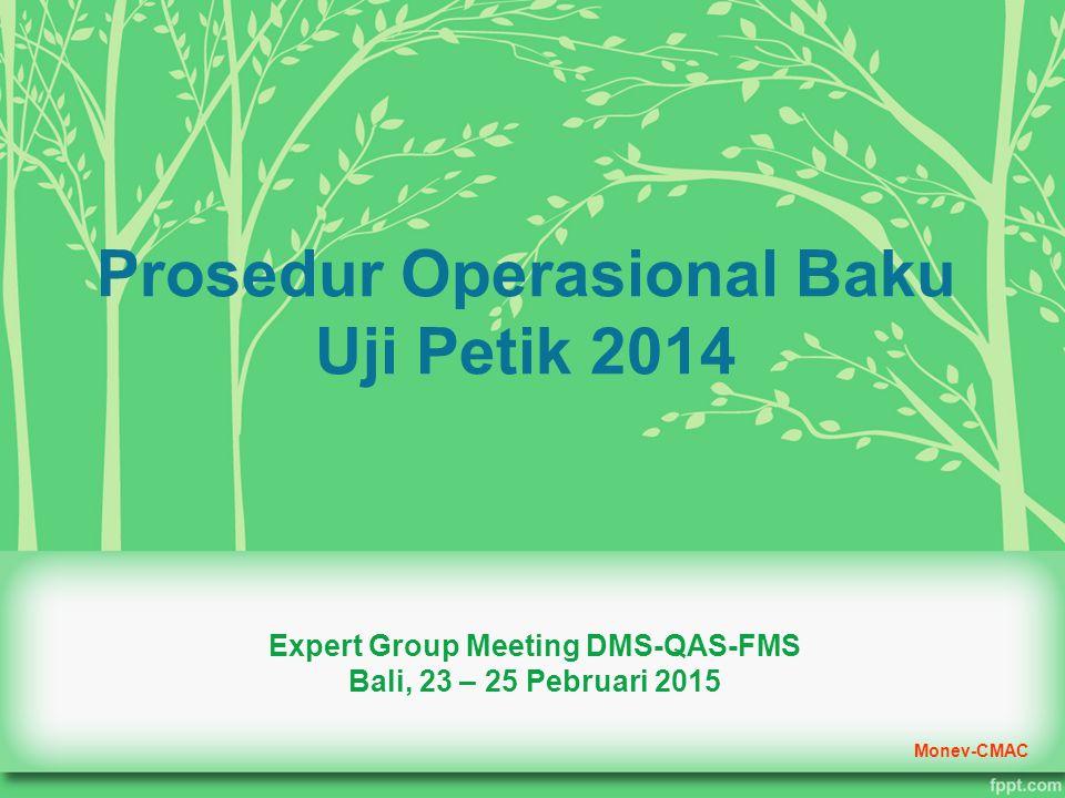 Prosedur Operasional Baku Uji Petik 2014