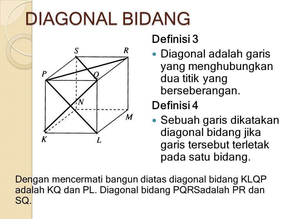 DIAGONAL BIDANG Definisi 3