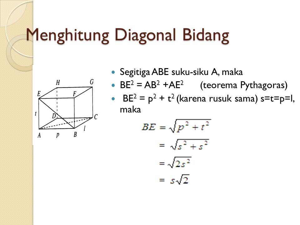 Menghitung Diagonal Bidang