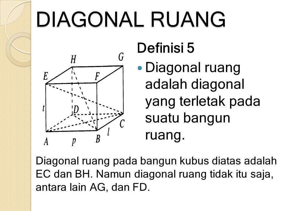 DIAGONAL RUANG Definisi 5